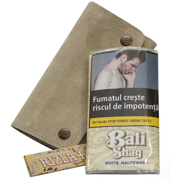 Bali Shag White Halfzware 40 Gr + Portofel & Foite Rizla