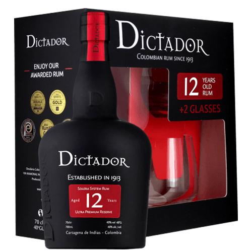 Dictador 12 ani Gift Set 70cl