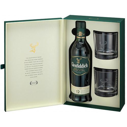 Glenfiddich 12 ani Gift Box 70cl