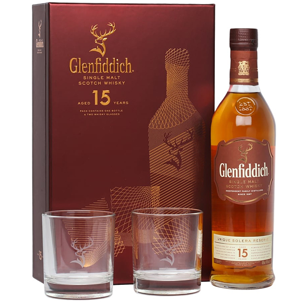 Glenfiddich 15 ani Gift Box 70cl