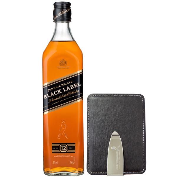 Johnnie Walker Black Label Portcard Gift Set 70cl