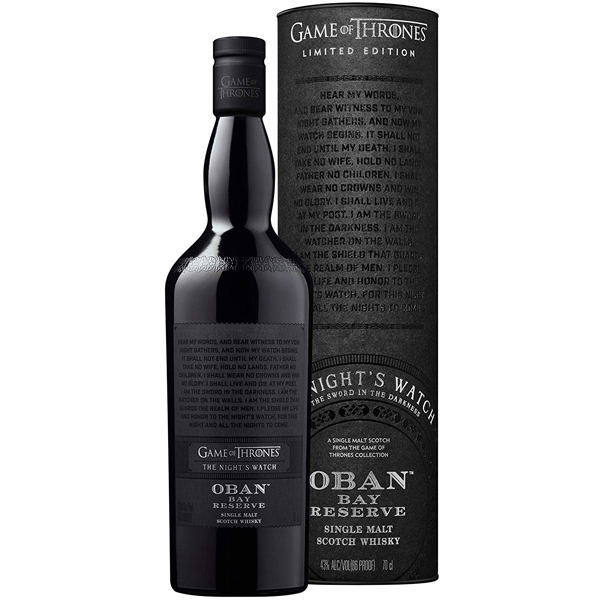 Oban Bay Reserve Game Of Thrones Night's Watch 70cl
