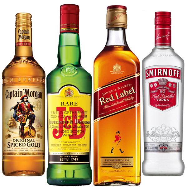 Party Starters 4 x 70cl