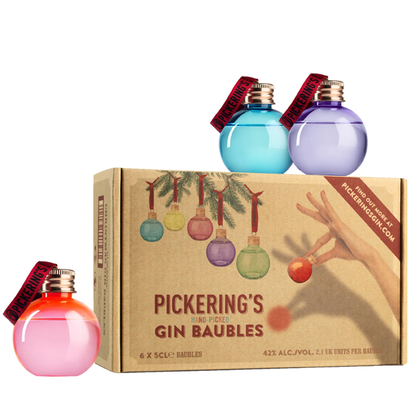 Pickering's Gin Baubles 6 x 5cl