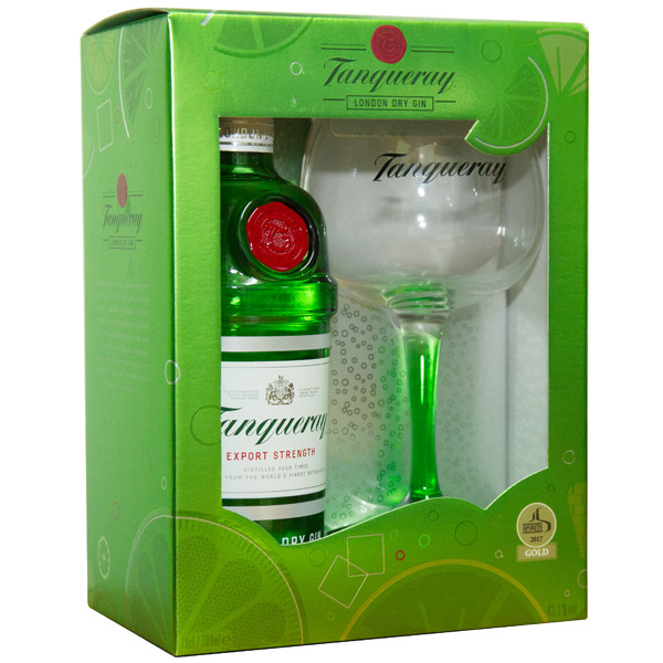 Tanqueray Dry Gin Gift Set 70cl
