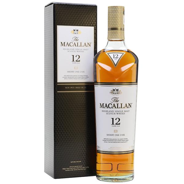 The Macallan 12 ani Sherry Oak 70cl