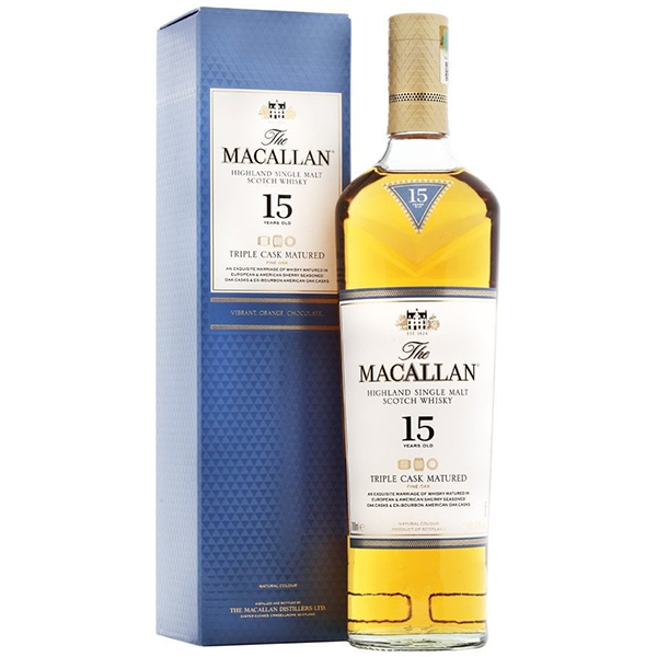 The Macallan 15 ani Triple Cask  70cl